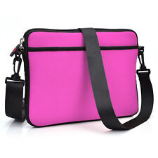 Hot Pink Soft with Package Business Briefcase School Messenger Tablet Cover Case