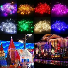 10/15/20m LED Solar Fairy String Light Outdoor Wedding Christmas Party Lamp L2
