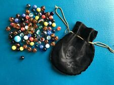 85 MARBLES~INCLUDES SCULL & CROSSBONES BAG~GEORGEOUS CONDITION