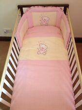 Loving Bear bedding Set for Cot (Pink) - Made in EU