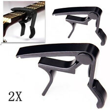 2X Quick Change Clamp Key Trigger Capo For Acoustic Electric Classical Guitar
