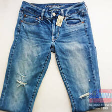 AMERICAN EAGLE Womens Jeans Sz 6 / 27x30 Lightly Destroyed Distressed NWT NEW