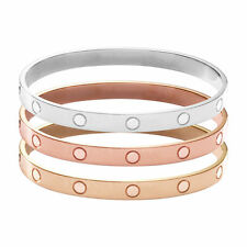 Novelty Gold-plated Stainless Steel Women's Cuff Bangle Jewelry Crystal Bracele