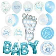 BABY SHOWER BALLOONS - Latex, Foil, Helium, Boy, Girl, Unisex, Pink, Blue,Luxury
