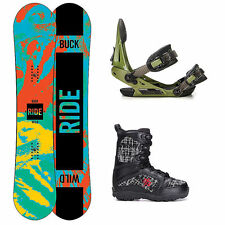 Ride Lil Buck Militia Kids Complete Snowboard Package