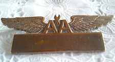 Vintage American Airlines Crew Badge AA Wings with Nameplate Pin RARE FIND