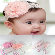 Nice Girl Toddler Hairband Infant Kid  Headdress Big Flower Lace Bow Accessories