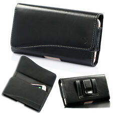 New Leather Horizontal Holster Belt Clip Carrying Case Pouch For iPhone Samsung
