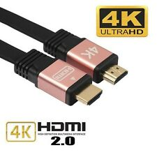Premium Ultra HD High Speed HDMI V2.0 Cable 3D 2160P 4K X2K 18GBPs—Rose Gold