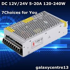 DC 12V/24V 5-20A Universal Regulated Switching Power Supply for LED Strip Light