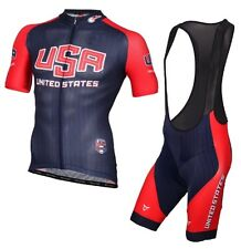 USA Cycling Jersey set USA National TEAM Cycling Jersey Bike Ropa Ciclismo