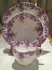 "Shelley Dainty Mauve Trio cup saucer 8"" Salad Plate 051/M Bone china England"