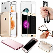 3D Tempered Glass Screen Protector With Silicone TPU Cover For iPhone 7 / 7 Plus