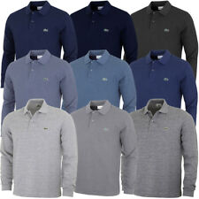 Lacoste 2017 Mens L1313 Marl Long Sleeve Classic Fit Polo Shirt