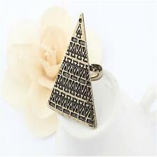 Taper Pyramid Adjustable Geometric Triangle Finger Ring Jewelry Accessories