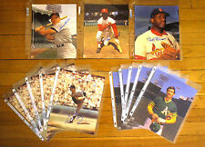 13 Signed 8 x 10 Autographed Baseball Photos Bob Gibson Lou Brock Fingers Perry