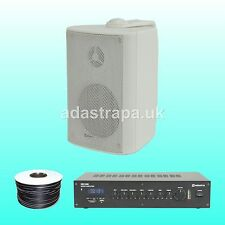"""Adastra 120W Outdoor Restaurant Music PA Public Address System 6"""" Wall Speakers"""