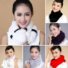 Women Real Rabbit Fur Scarves Shawls Wrap Collar Perfect Coming Neck Wraps Scarf