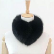 Real Farm Fox Fur Collar Womens Scarf Shawl Stole Hot Top Wrap Furry Neck Warmer