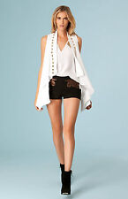 Hale Bob Studded Sleeveless Summer Jacket White or Black XS NWT $77 3NMR7098