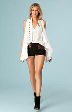 Hale Bob Studded White Sleeveless Summer Jacket XS NWT 3NMR7098