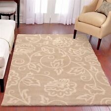 RUGS AREA RUGS CARPET 8x10 AREA RUG LARGE RUGS FLORAL BEIGE MODERN SOFT  ~ NEW ~