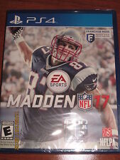 MADDEN NFL 17 PS4 (Sony PlayStation 4) **Brand New - Factory Sealed**