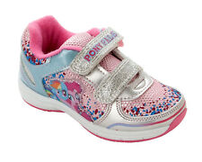 GIRLS MY LITTLE PONY PINK BLUE GLITTER CASUAL TRAINERS INFANTS UK SIZE 6-12
