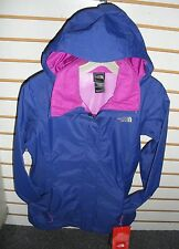 THE NORTH FACE WOMENS RESOLVE WATERPROOF JACKET -AQBJ- MARKER BLUE/ PINK - M, L
