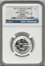 2013 NGC SP 69 CANADA $20 HOCKEY  99.9% SILVER COIN ~ first  releases NGC
