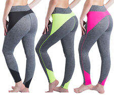 Women Yoga Workout Gym Sexy Sports Joggers Fitness Leggings Pants Trousers S401