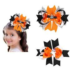 Kids Girls Bat Ghost Ribbon Bow Hair Clips Pin Barrette Party Cosplay Photo Prop