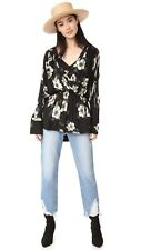 New Free People Tuscan Dreams Floral Print Tunic Top Sexy Blouse S M L