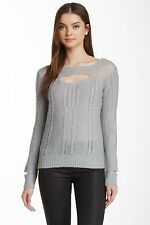 Liberty Garden Charming Blue Pull Over Knit Sweater XS M NWT $64 4CTM7026