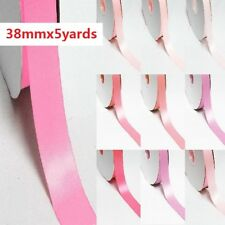 """5 Yards Double Sided Discount Satin Ribbon 1"""" /25mm. Pink s"""