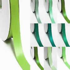"100 Yards Double Sided 4"" / 100mm YAMA Wholesale Satin Ribbon  Lime to green"