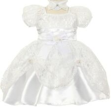 Flower Girl Dress Cap Sleeve Lace Clip Up Skirt for Baby & Infant