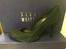 Stuart Weitzman Womens Alto Cola Brown Suede Leather Pump