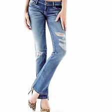 New Guess Women's Ultra-Low Rise Bootcut Jeans in Potterie Wash Sz 23