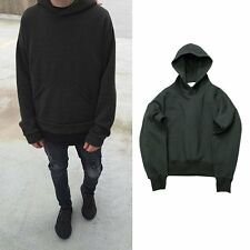 Solid Casual top HipHop Hoodie Sweatshirt Swag Pullover Outwear Sweats Men Women
