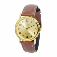 Casio Gold Face Enticer Mens Analog Casual Brown Watch MTP-1095Q-9B1
