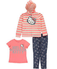 "Hello Kitty Little Girls' Toddler ""Striped Spotlight"" 3-Piece Outfit"