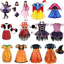 Girls Kids Pirate Fairy Halloween Outfits Party Fancy Dress Up Clothes Costume