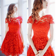 New Sexy Charming Women Lace Floral Bodycon Cocktail Party Club Short Mini Dress