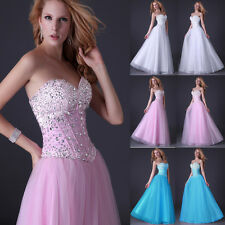 Wedding Bridal Formal Strapless Corset Style Party Gown Prom Ball Evening Dress