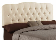 Skyline Furniture Carnaby Tufted Shantung Parchment Upholstered Headboard