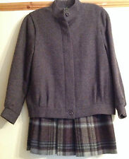 Beautiful Vintage M&S Ladies Pure New Wool Two Piece Suit Skirt Jacket Size 12