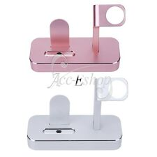 iPhone iWatch Apple Watch Aluminum Charging Dock Station Charger Holder Stand