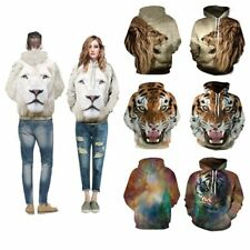 3D Unisex Sweatshirt TIGER LION Graphic Printed Hoodies Casual Sweater Couples