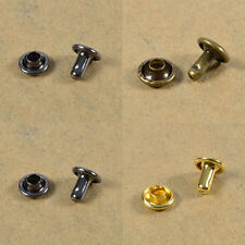 Double Rivets 6 7 9 mm Rust-Proof Cap Diameter Studs Leather Craft Rapid Rivets